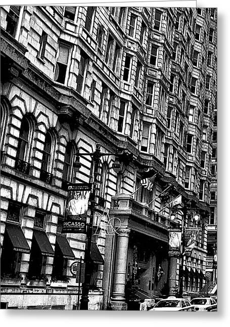 Bully Digital Greeting Cards - Urban Canyon - Philadelphia -  Triptych 1 Greeting Card by Bill Cannon