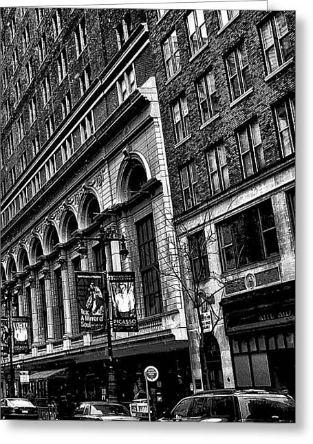 Bully Digital Greeting Cards - Urban Canyon - Philadelphia -  Triptych 3 Greeting Card by Bill Cannon
