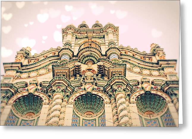 Byzantine Greeting Cards - Urban Castle Greeting Card by Danielle Denham