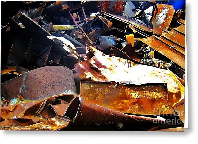 Lanscape Digital Greeting Cards - Urban Deconstruction Greeting Card by Reb Frost