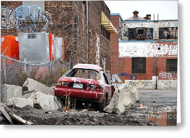Urban Exploration War Zone Montreal Greeting Card by Reb Frost