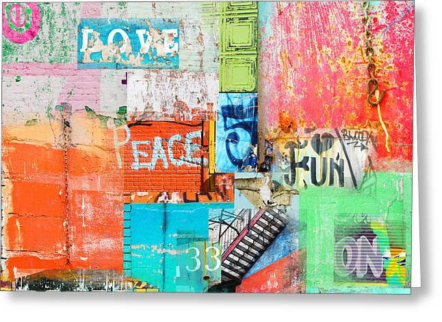 Surface Design Greeting Cards - Urban Industrial Walls Greeting Card by Anahi DeCanio - ArtyZen Studios