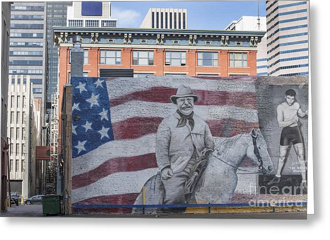 President Of America Photographs Greeting Cards - Urban Landscape of Denver Colorado Greeting Card by Juli Scalzi