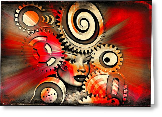 Abstract Shapes Greeting Cards - Urban Medusa Greeting Card by Jeff  Gettis