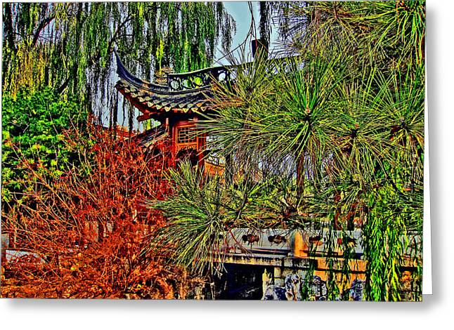 Urban Images Greeting Cards - URBAN MOTIFS. Chinese Yard. Greeting Card by Andy Za
