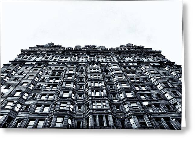 Broad Street Digital Art Greeting Cards - Urban Mountain Greeting Card by Bill Cannon