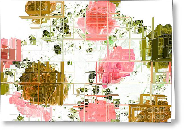 Division Greeting Cards - Urban Rose Greeting Card by Ann Johndro-Collins