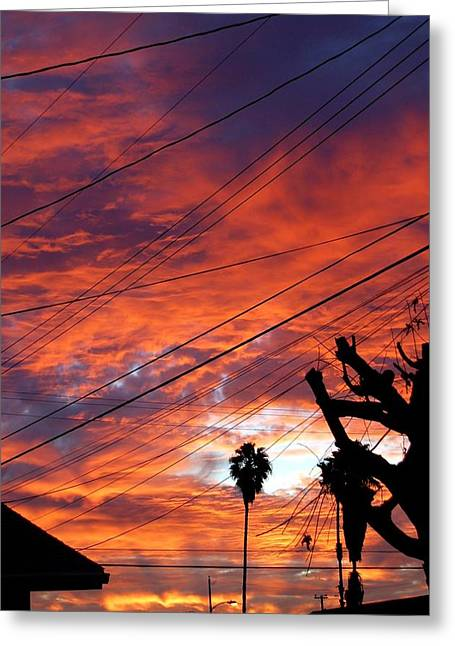 Sunlight Greeting Cards - Urban Sunrise Greeting Card by Shannon McMannus