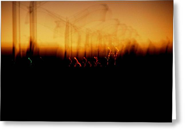 Noise . Sounds Digital Greeting Cards - Urban Vibrations Greeting Card by John Q ART