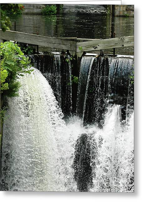 Fancy Eye Candy Greeting Cards - Urban Waterfalls Photography Greeting Card by Anahi DeCanio Photography