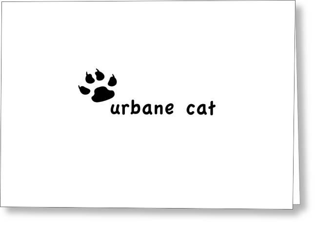 City Art Greeting Cards - Urbane Cat Greeting Card by Bill Owen