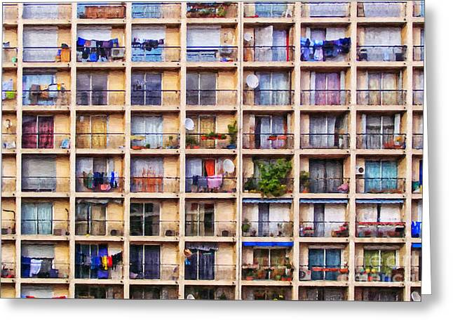 Residential Structure Digital Greeting Cards - Urbanisation Greeting Card by Antony McAulay