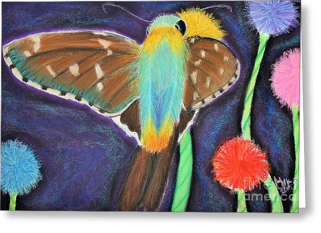 Antenna Pastels Greeting Cards - Urbanus proteus Greeting Card by Mik Smith