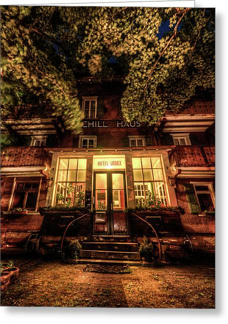 Urbex Hotel Greeting Card by Nathan Wright