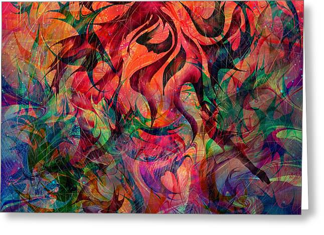 Loveliness Greeting Cards - Urn of the Fire Greeting Card by Rachel Christine Nowicki