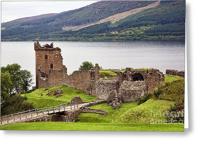 Chuck Kuhn Greeting Cards - Urquhart Castle I Greeting Card by Chuck Kuhn