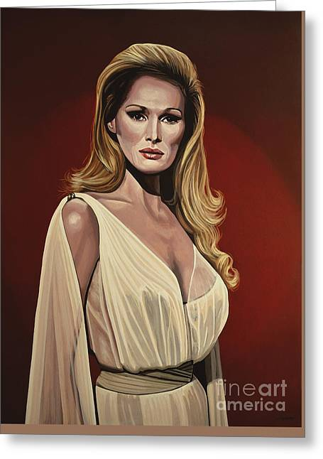 James Paintings Greeting Cards - Ursula Andress 2 Greeting Card by Paul Meijering