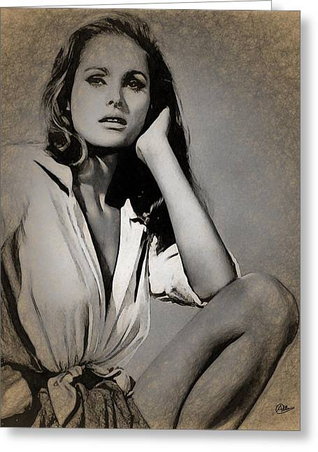 Ursula Andress Greeting Card by Joaquin Abella