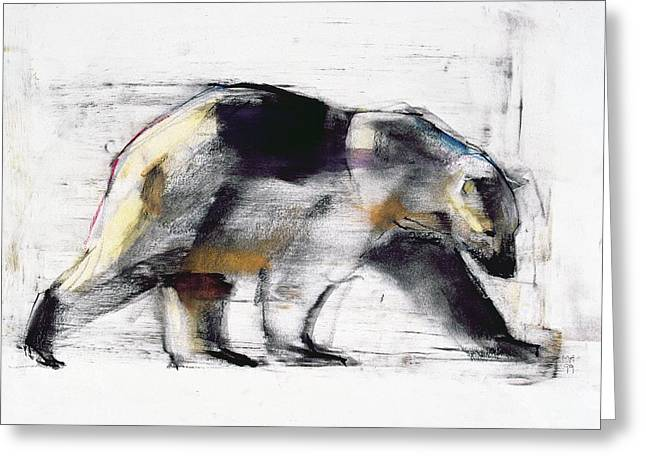 Fur Pastels Greeting Cards - Ursus Maritimus Greeting Card by Mark Adlington