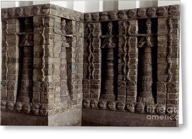 1400 Greeting Cards - Uruk: Innin Temple Facade Greeting Card by Granger