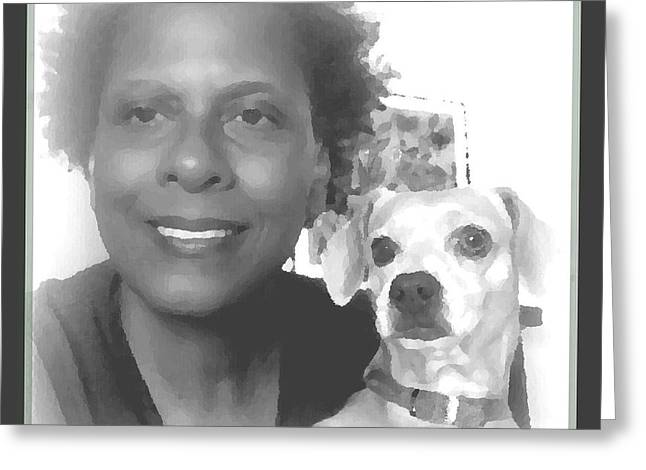 Puppies Photographs Greeting Cards - Us Greeting Card by Angela J Wright