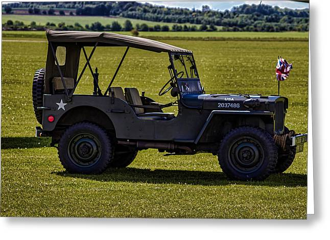 Army Photographs Greeting Cards - US Army Jeep Greeting Card by Martin Newman