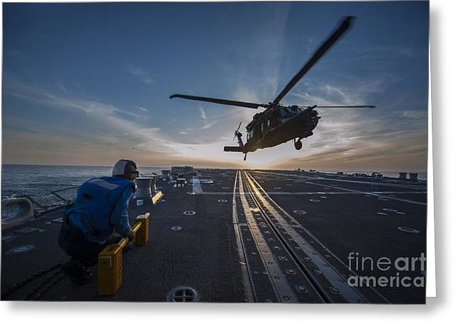 U.s Army Paintings Greeting Cards - U.S. Army MH-60 Blackhawk helicopter Greeting Card by Celestial Images