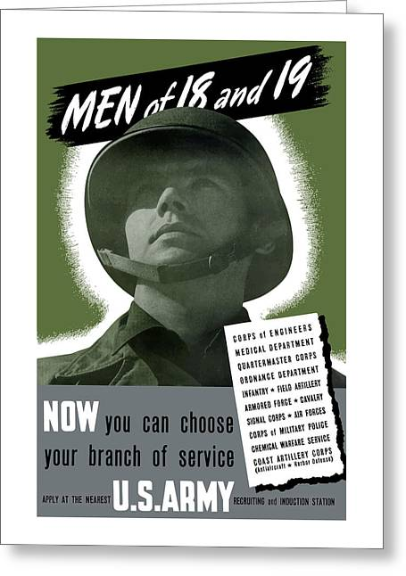 Second Greeting Cards - US Army Recruiting Poster Greeting Card by War Is Hell Store