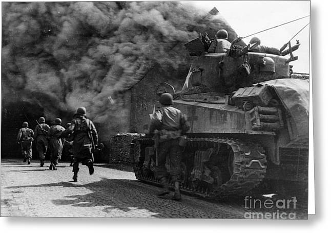 Us Army Tank Greeting Cards - Us Army Wwii Greeting Card by Photo Researchers
