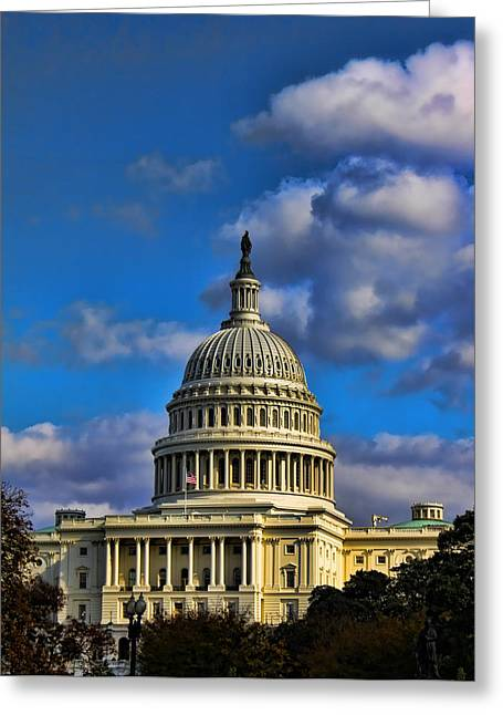 Us Senate Greeting Cards - US Capital  Greeting Card by Brian Governale