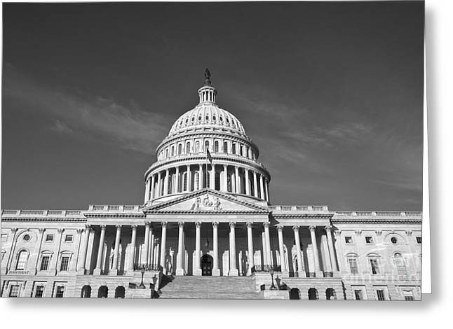 United States Capitol Greeting Cards - U.S. Capitol Building Greeting Card by Diane Diederich