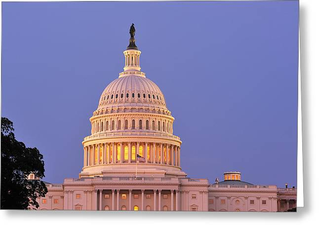 U.s. Capitol Greeting Cards - US Capitol Greeting Card by Christian Heeb