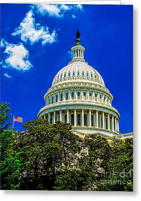 United States Capitol Dome Greeting Cards - US Capitol Dome Greeting Card by Nick Zelinsky
