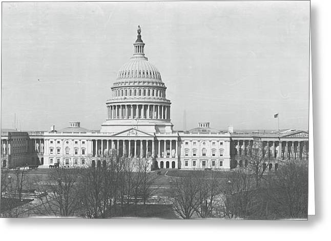 Us Senate Greeting Cards - Us Capitol Washington Dc 1916 Greeting Card by Panoramic Images
