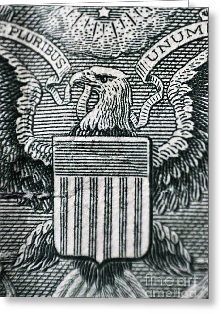 Us Dollar Eagle Greeting Card by Dan Radi