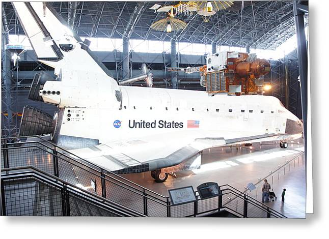 First Space Shuttle Enterprise Greeting Card by Art Spectrum