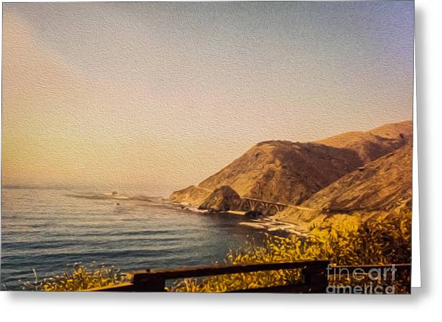 Big Sur Ca Greeting Cards - California Highway One Greeting Card by Tom Gari Gallery-Three-Photography
