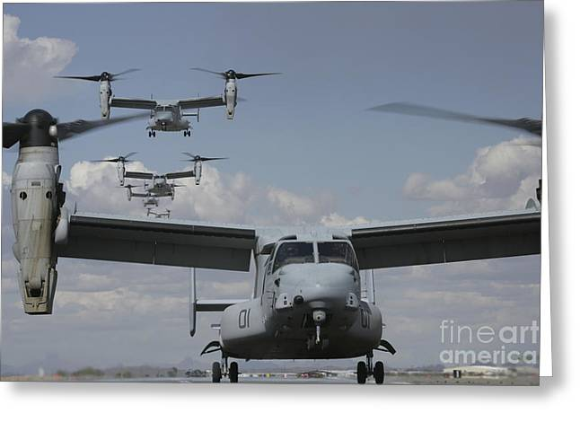 U.s. Marine Corps Mv-22 Osprey Greeting Card by Stocktrek Images