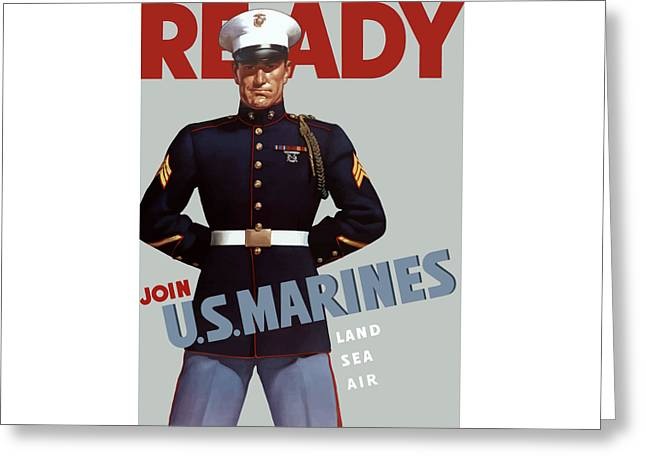 US Marines Ready Greeting Card by War Is Hell Store
