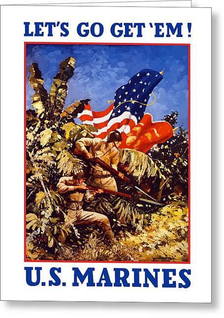 Battle Greeting Cards - US Marines Greeting Card by War Is Hell Store