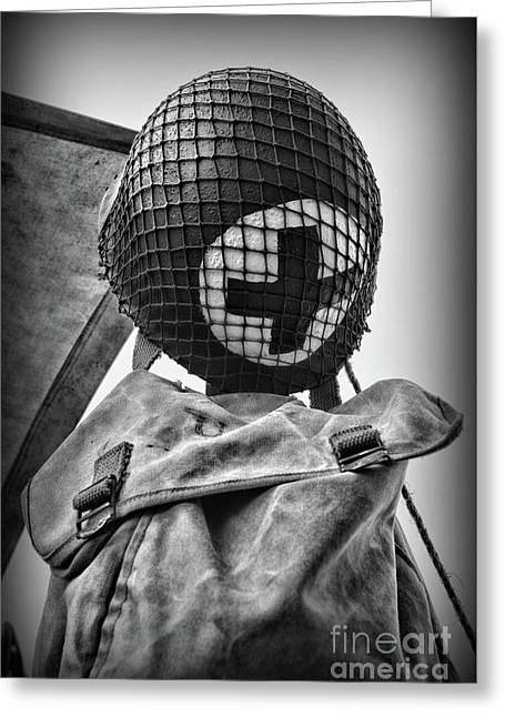Us Medic In Black And White  Greeting Card by Paul Ward