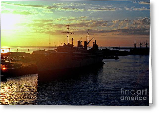 Military Might Greeting Cards - US Naval Station Mayport Greeting Card by Thomas R Fletcher