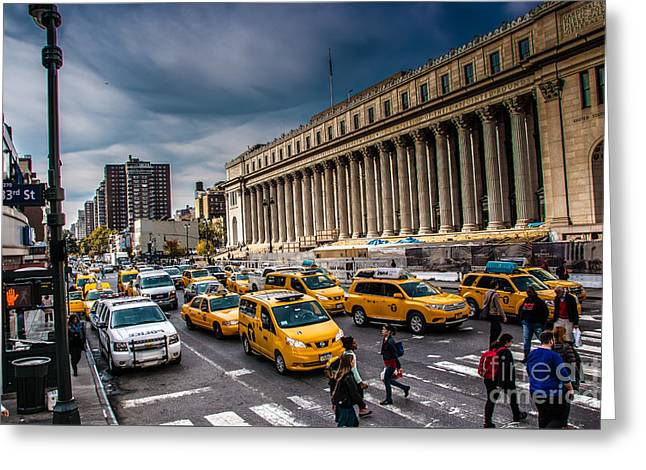 Occasion Greeting Cards - US Post NYC Greeting Card by  ILONA ANITA TIGGES - GOETZE  ART and Photography