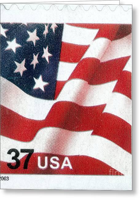 Postal Service Greeting Cards - U.s. Postage Stamp, 2003 Greeting Card by Granger