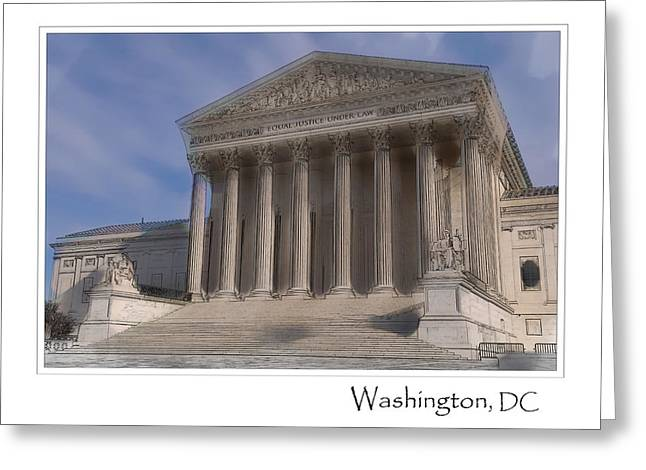 Us Supreme Court Building In Washington Dc Greeting Card by Brandon Bourdages