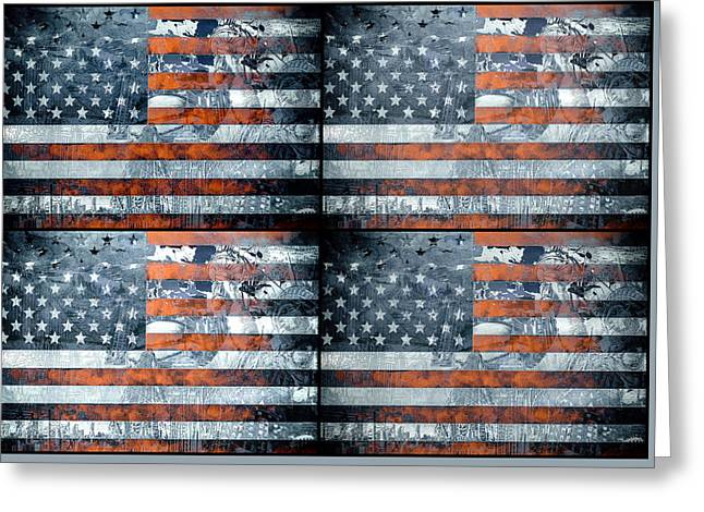 4th July Greeting Cards - Usa flag 9 Greeting Card by MB Art factory