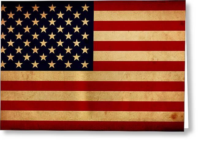 Flag Of Usa Greeting Cards - Usa Greeting Card by NicoWriter
