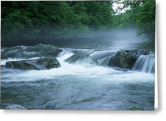 Tennessee River Greeting Cards - Usa, North Carolina, Tennessee, Great Greeting Card by Panoramic Images