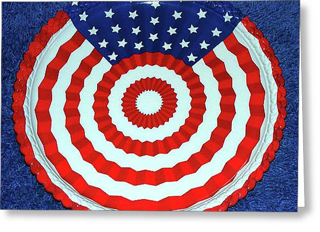 Flag Of Usa Greeting Cards - Usa Plate Greeting Card by Wilma Stout