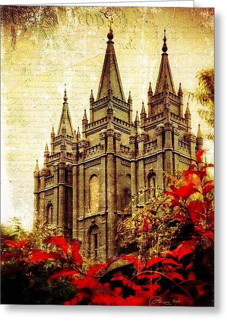Slc Photographs Greeting Cards - Use it Vintage Temple Greeting Card by La Rae  Roberts